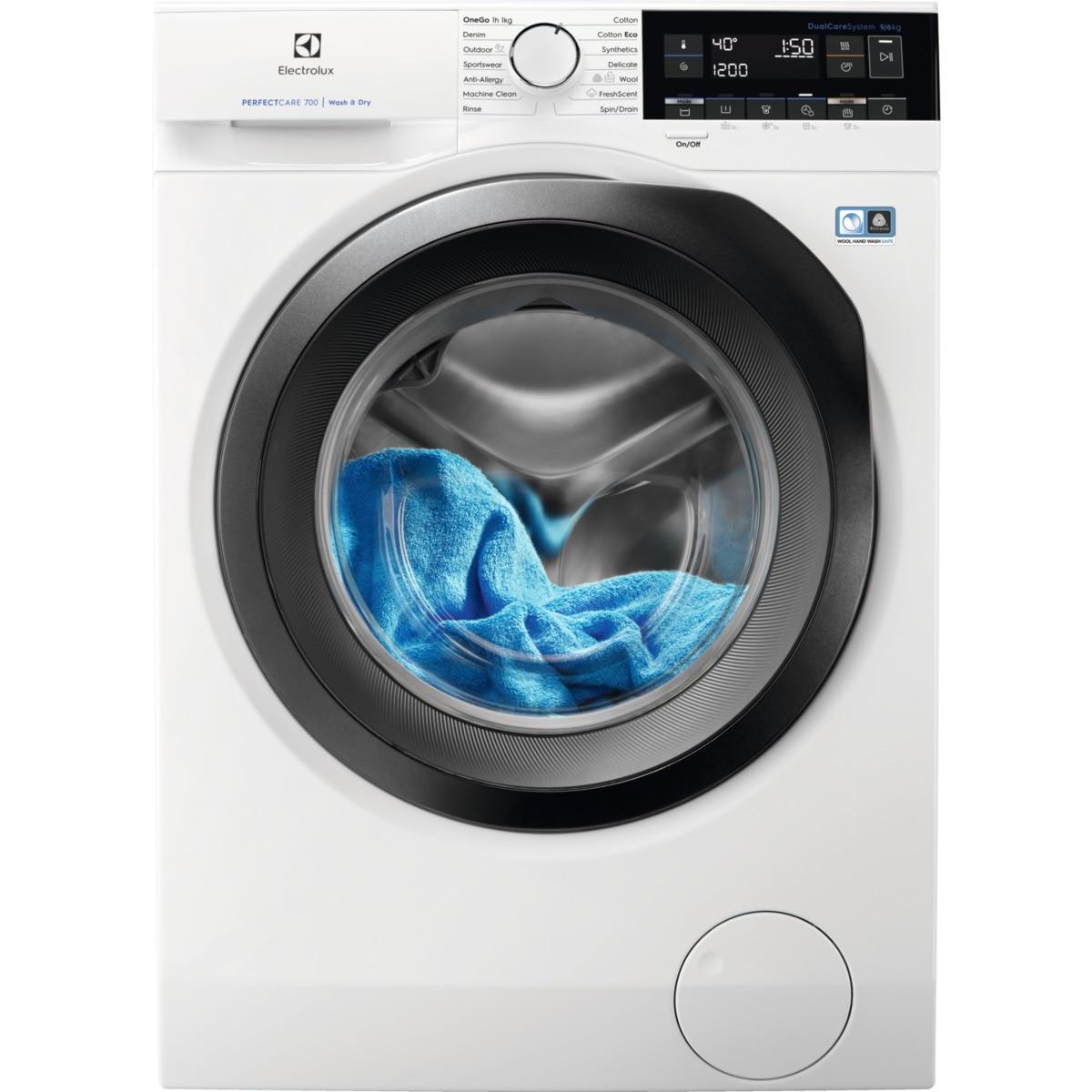 Fotografie Masina de spalat rufe cu uscator Electrolux Dual-Care EW7W369S, PerfectCare700, Spalare 9 kg, Uscare 6 kg, 1600 RPM, Clasa A, Alb