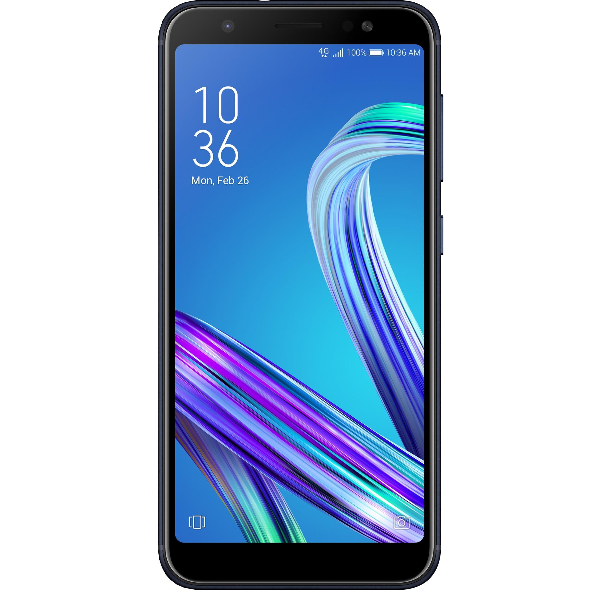 Fotografie Telefon mobil Asus Zenfone Max M1 ZB555KL, Dual SIM, 32GB, 4G, Deepsea Black