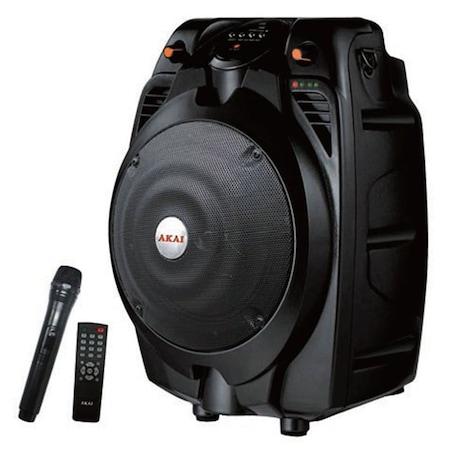 Akai SS022A-X6 hordozható hangszóró, USB/SD kártya, Fekete