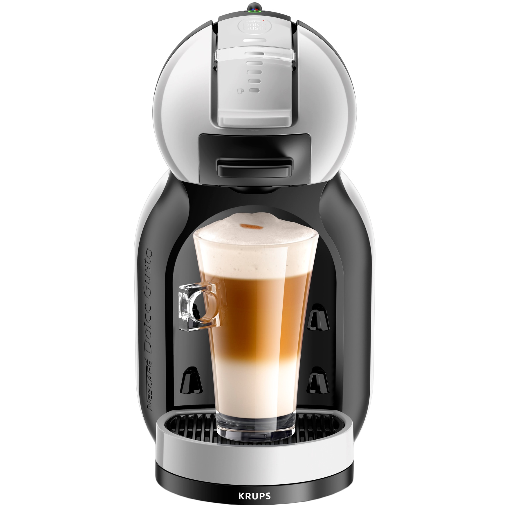 Fotografie Espressor Krups Nescafe Dolce Gusto Mini-Me KP123B31, 1500 W, 0.8 l, 15 bari, Gri