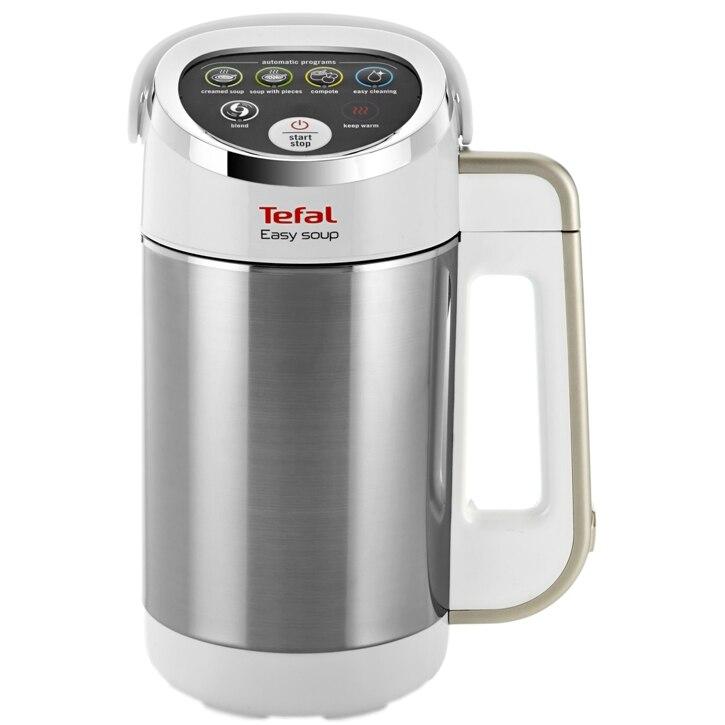 Fotografie Blender Tefal Easy Soup BL8411, 1000 W, 1.2 l, Alb/Gri
