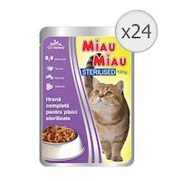 Мокра храна за котки, Miau Miau, Sterilised, 24 броя x 100 гр