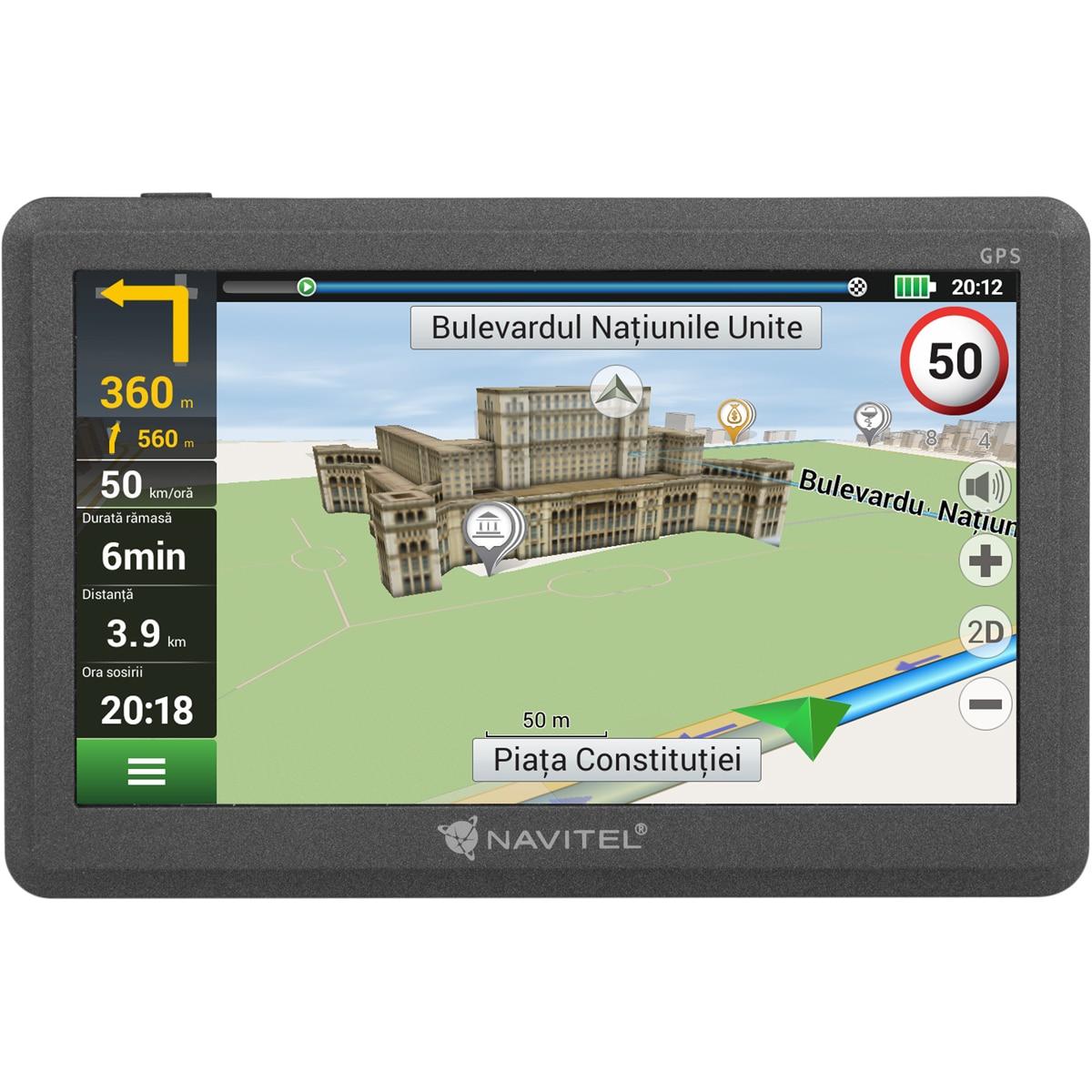 "Fotografie Sistem de navigatie Navitel E200, ecran tactil 5"", 4GB, harti preinstalate Europa de Est"
