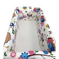 Maxi babaágy oldalvédő rögzíthető szett 120x60 cm Deseda színes baglyok
