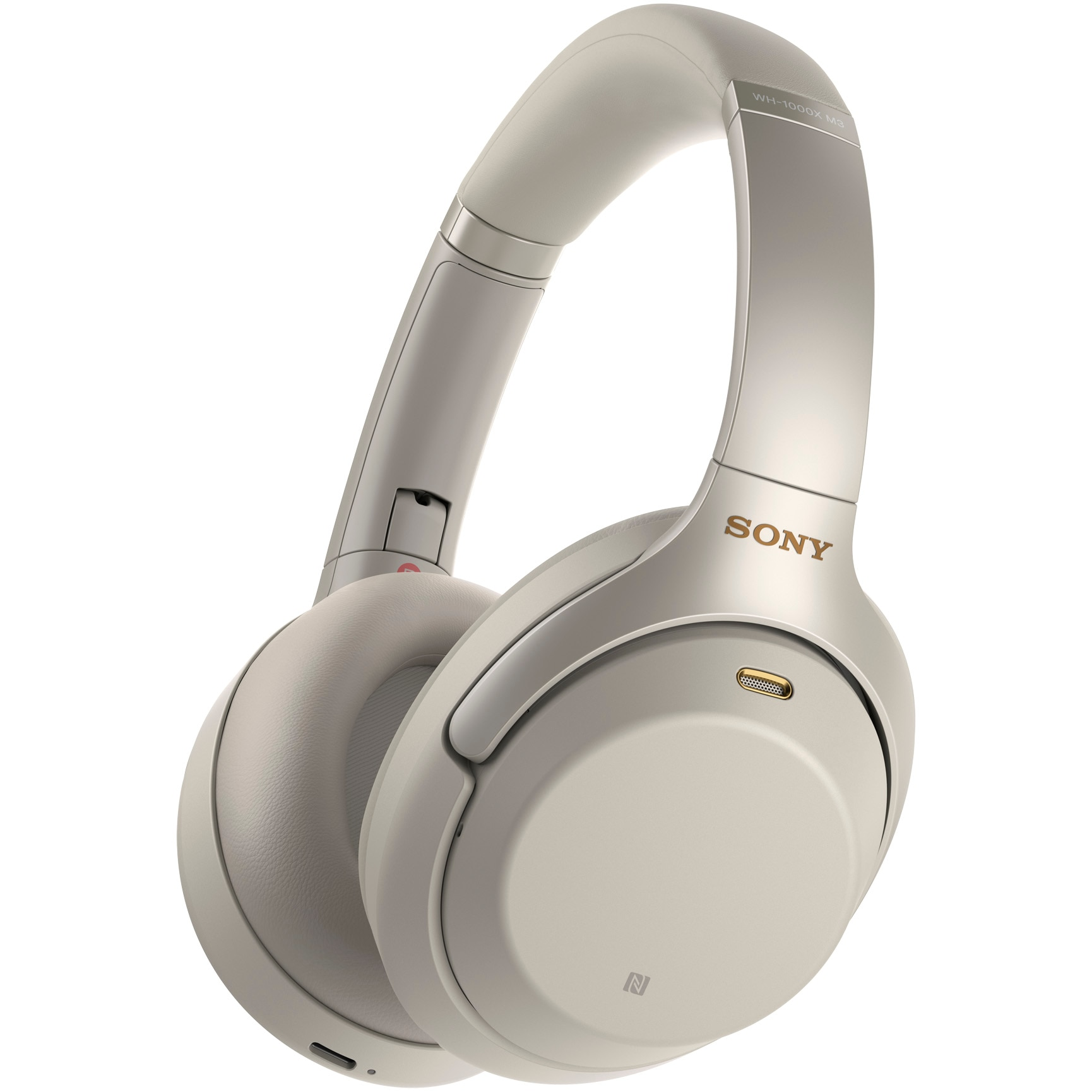 Fotografie Casti Sony WH-1000XM3S, Noise canceling, Hi-Res, Google Assistant, Wireless, Bluetooth, NFC, LDAC, Argintiu