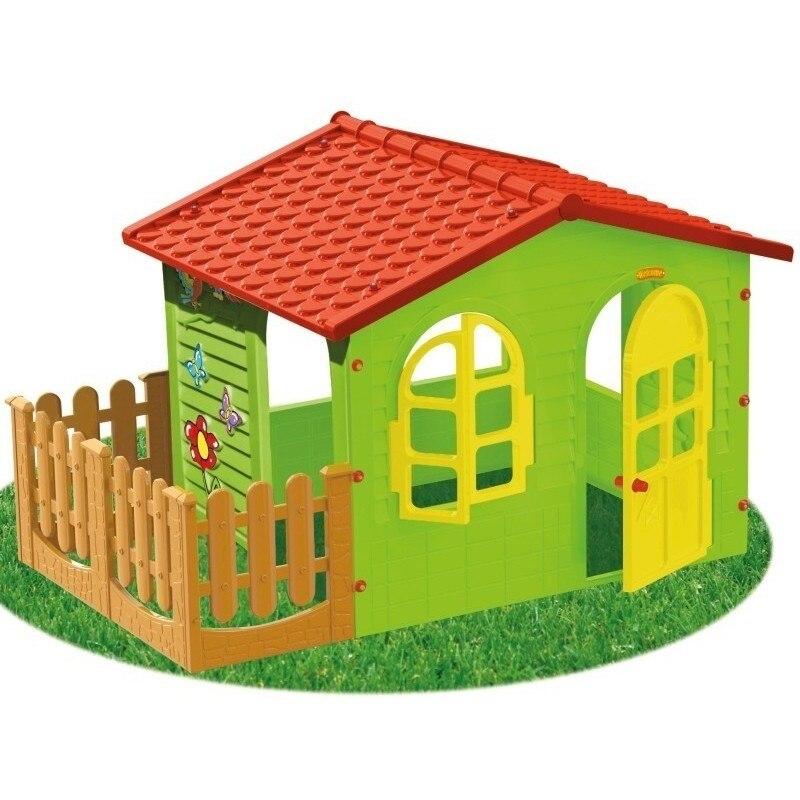 Fotografie Casuta pentru copii, MochToys, Garden House mare cu gardut