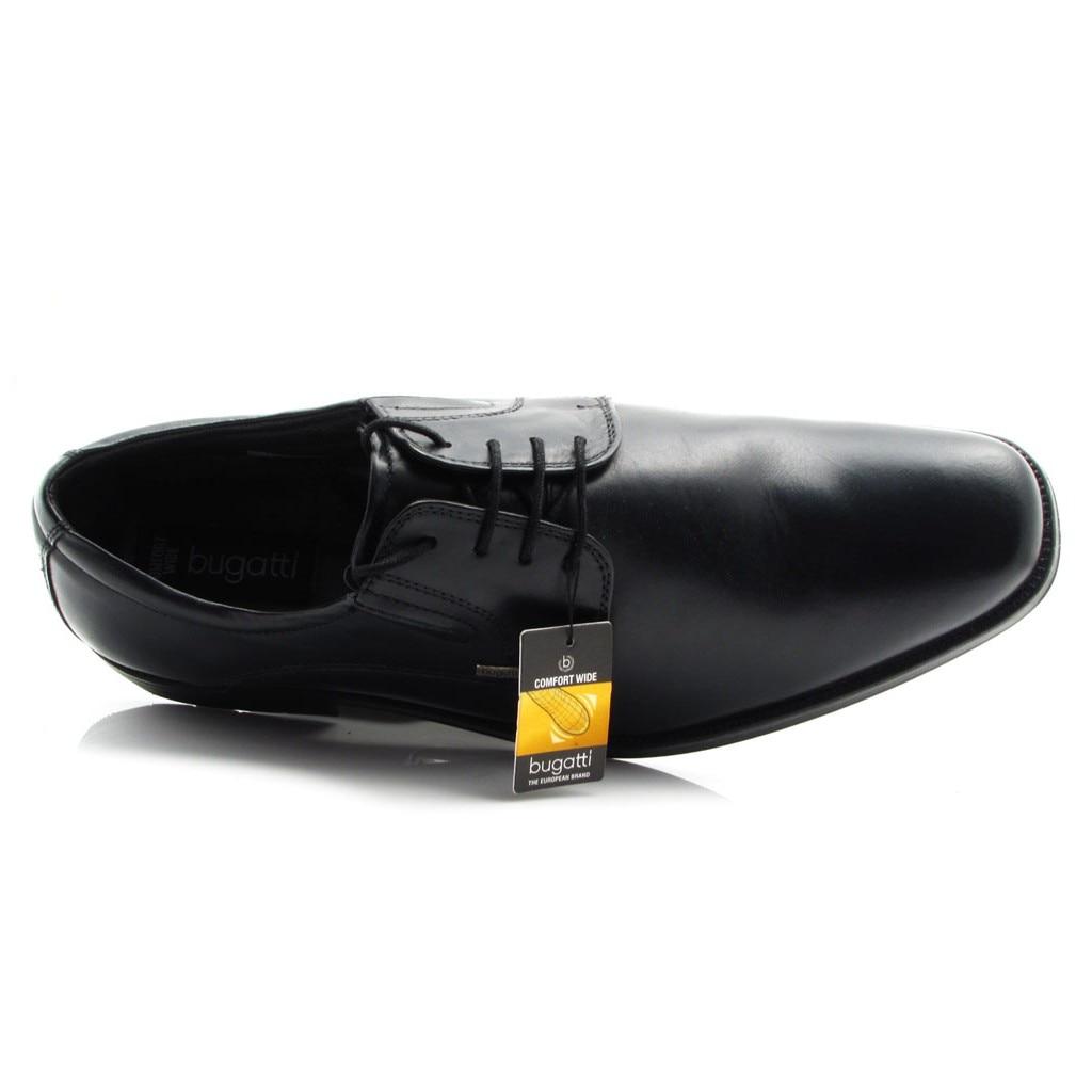 XXX Bugatti férfi, fekete, elegáns, bőrcipő, széles lábfejre, magas rüsztre is, shock absorber T5501 1 100