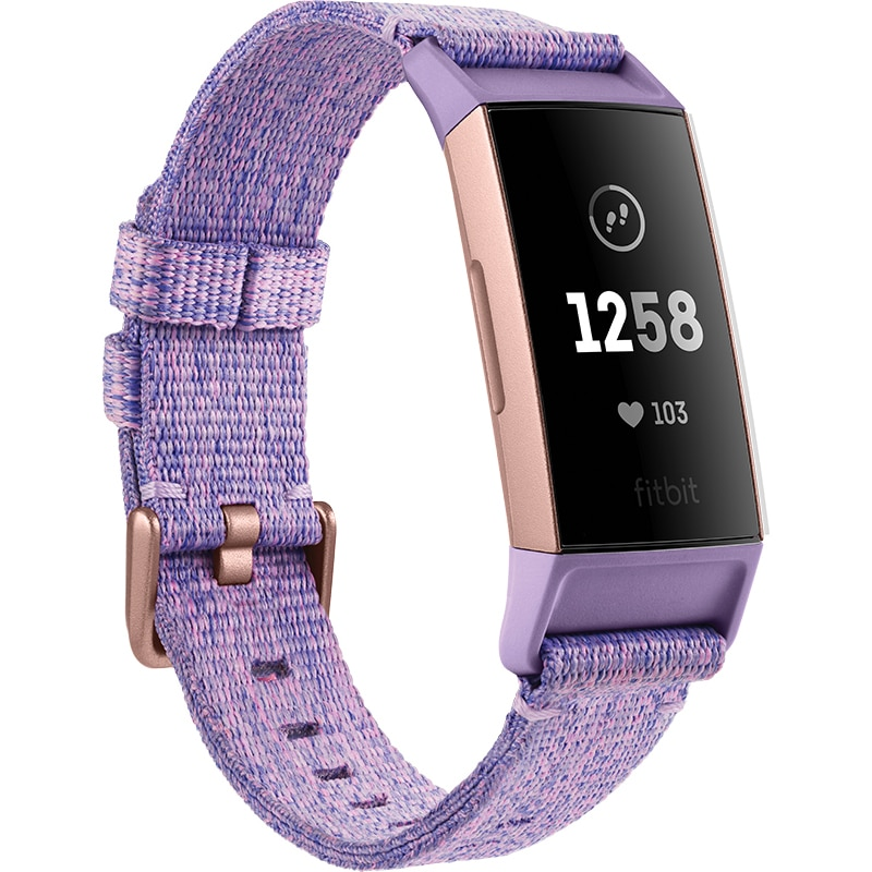 Fotografie Bratara fitness Fitbit Charge 3, NFC, Lavender Woven