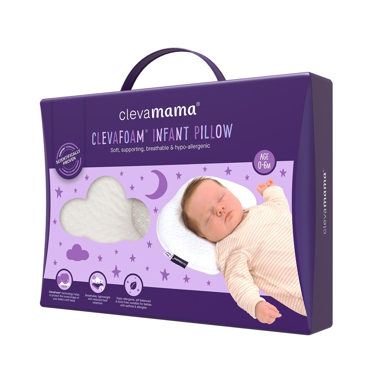 ClevaMama elfordulásgátló és lapos fej megelőző babapárna eMAG.hu