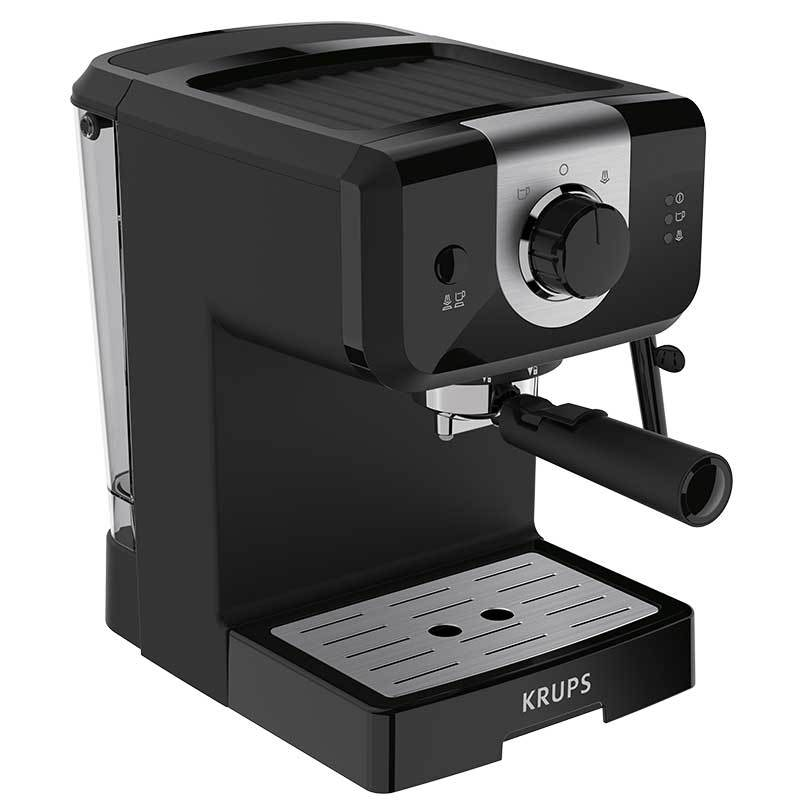 Fotografie Espressor manual Krups XP320830, 1050 W, 15 bar, 1.5 L, Dispozitiv spumare, Negru