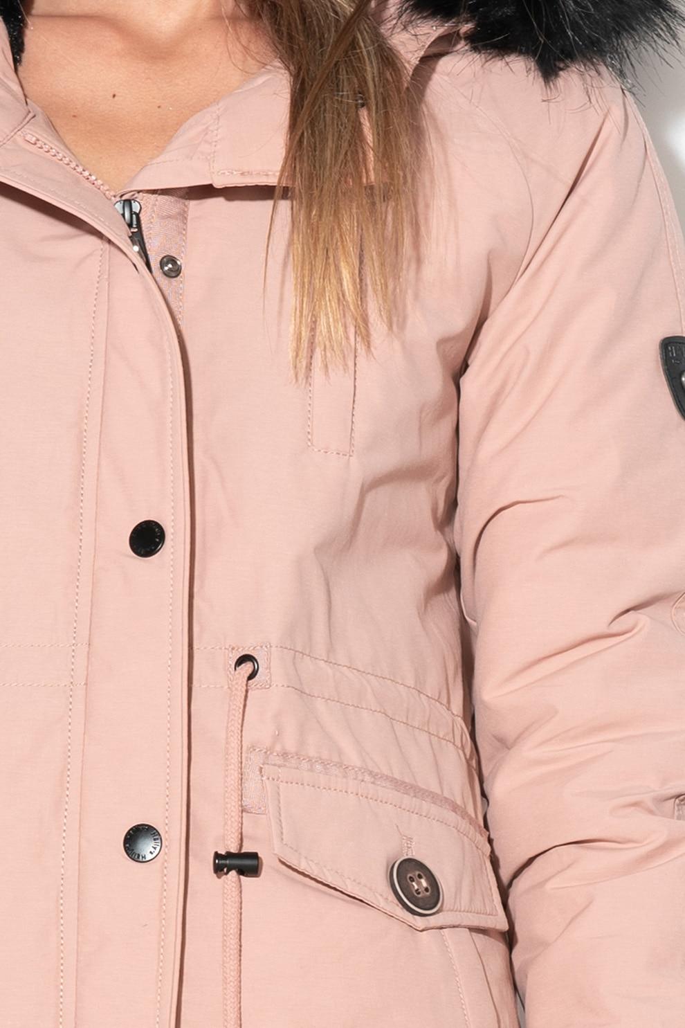 Haily's, Java bélelt kapucnis parka kabát, púder rózsaszín