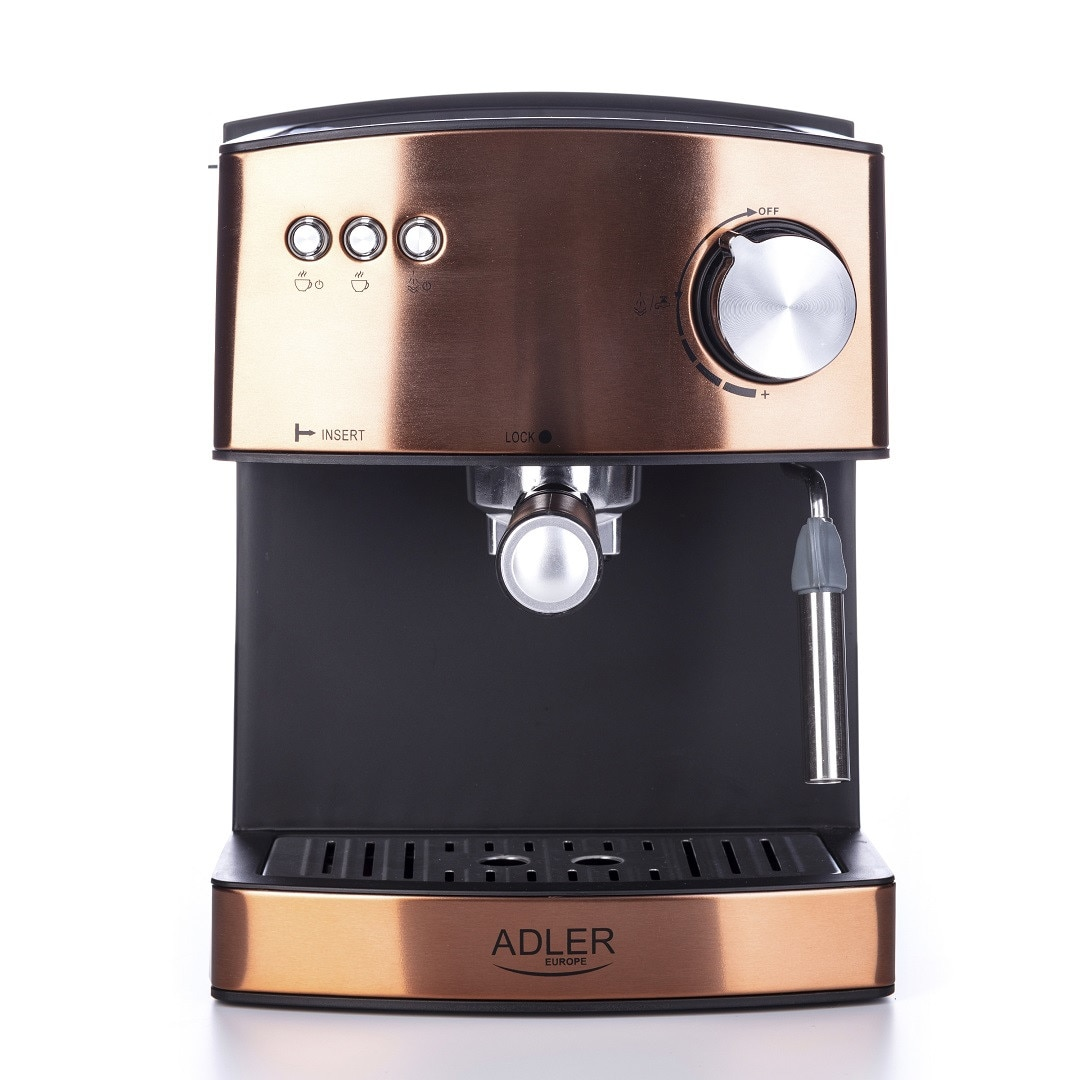 ADLER Eszpresszó Kávéfőző, 15 Bar, 850W, Réz