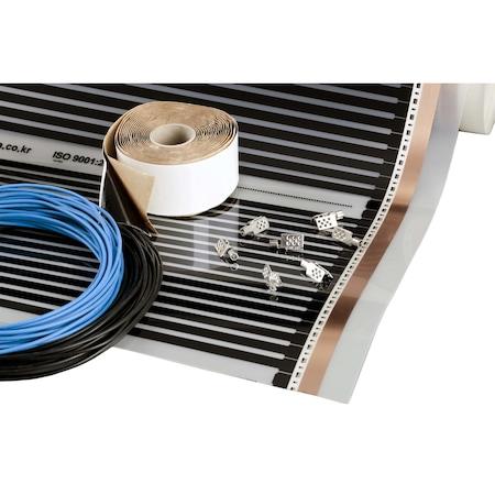 Комплект Heating Floor за подово отопление 3 кв.м, 660 Вт с инфрачервено отоплително фолио ENERPIA DAEWOO (Корея), ширина на фолиото 50см, 220Вт/кв.м