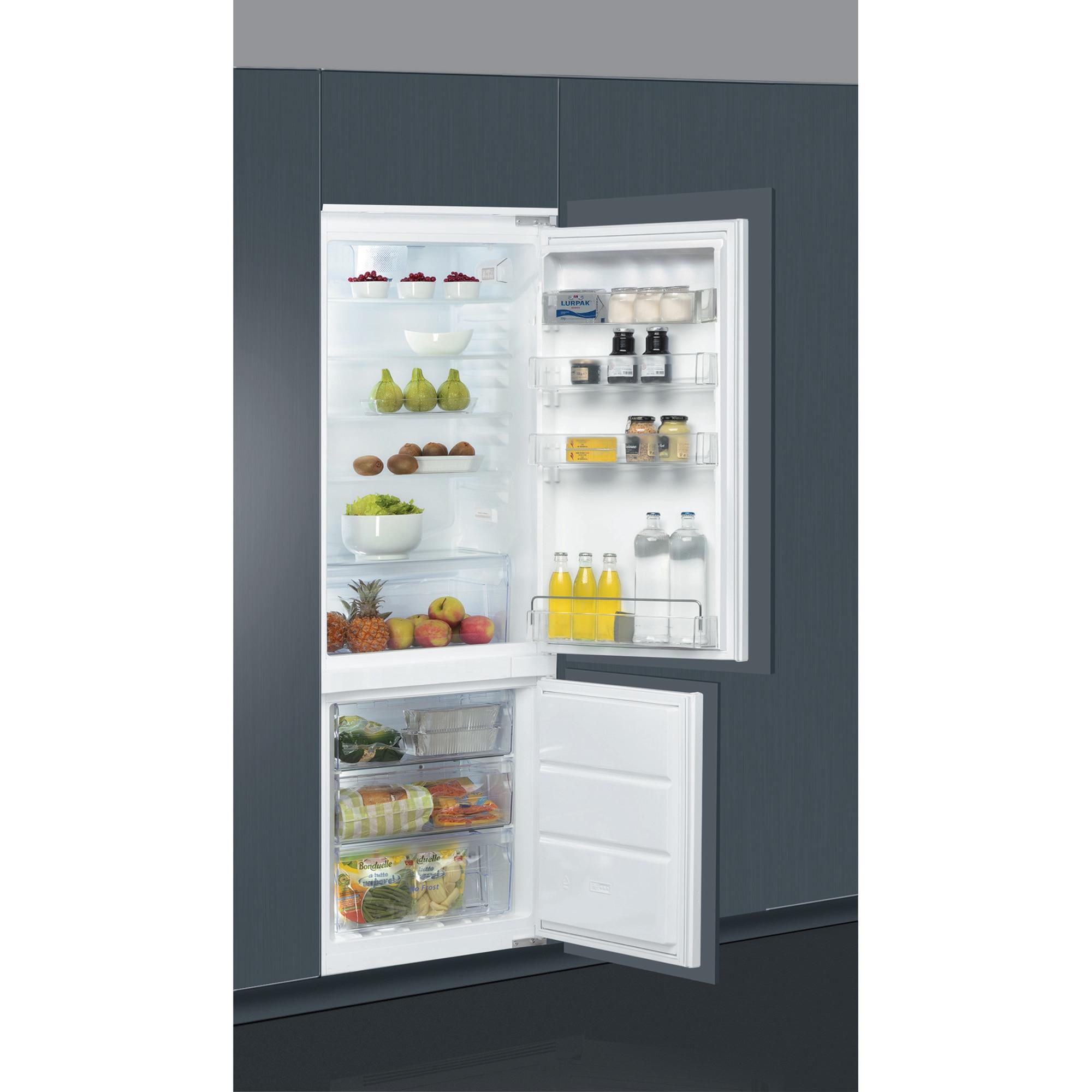 Fotografie Combina frigorifica incorporabila Whirlpool ART 872/A+NF, 264 l, Clasa A+, No Frost, 6th Sense, Iluminare LED, H 177 cm
