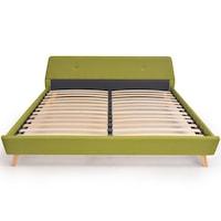 VID kárpitozott ágy ágyráccsal 180X200CM zöld