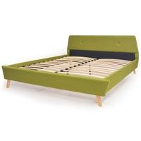 VID kárpitozott ágy ágyráccsal zöld 140X200CM