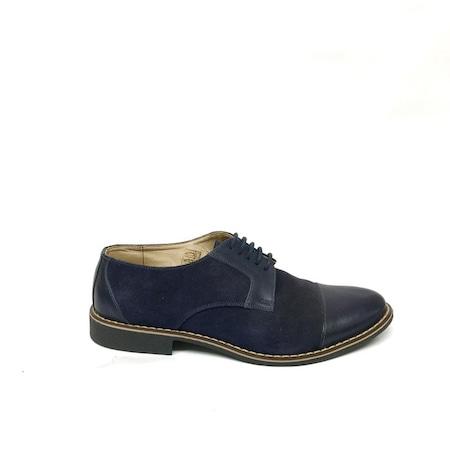 Pantofi casual barbati 317, Albastri, 38 EU, Piele intoarsa