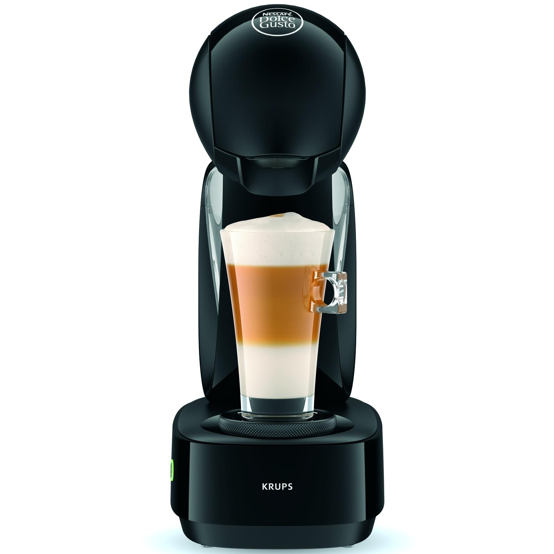 Krups KP130831 Dolce Gusto® Lumio eszpresszó kávéfőző, 1600W, 15 bar, 1 literes víztartály, Fekete eMAG.hu