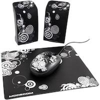 Boxe Modecom Mc-starter art 2.0 negru + mouse si mouse pad