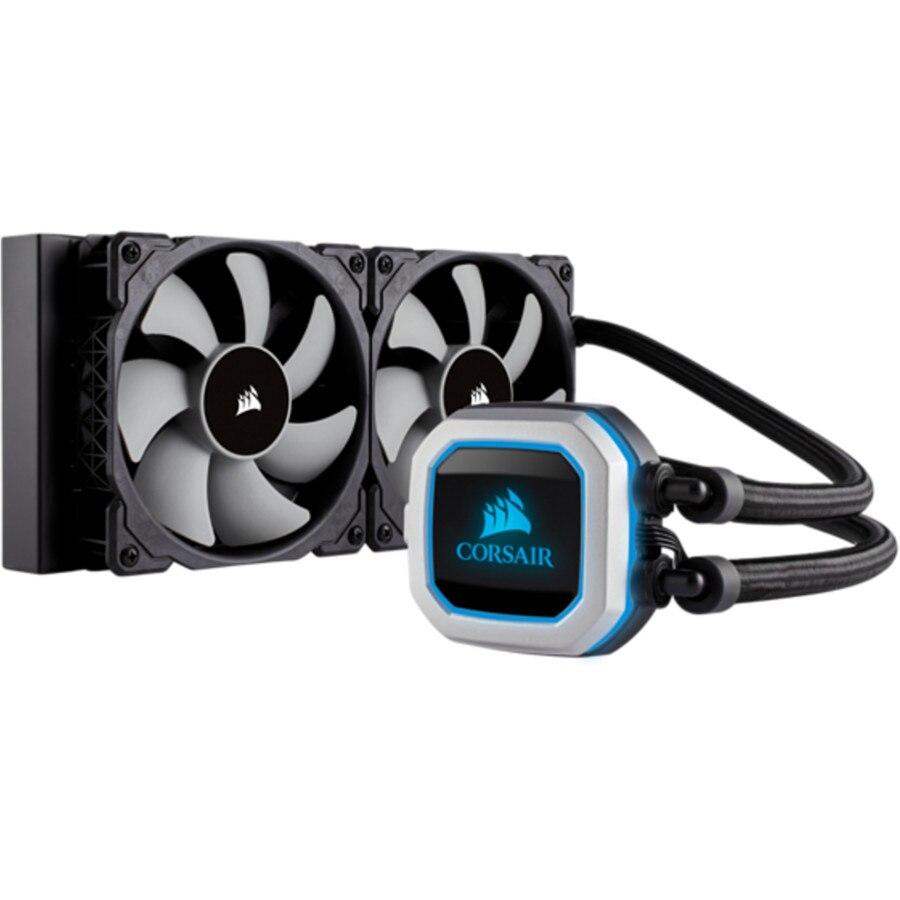 Fotografie Cooler CPU Corsair Hydro Series™ H100i PRO RGB, Racire cu lichid, 240mm
