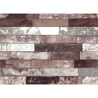 Tapéta DEGRETS 206-08 Mosható, Nedvességálló, Kő 3D barna, Méret: 0.53m x 10.05m = 5.3 m2
