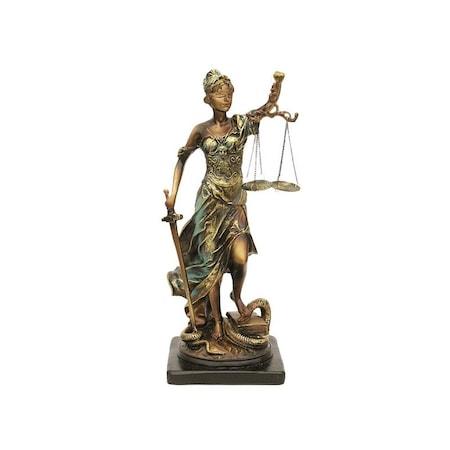 Statueta reprezentand justitia 18x40 cm
