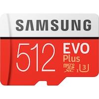 Samsung EVO Plus 512GB microSDXC UHS-I U3 100MB/s Full HD & 4K UHD Memóriakártya adapterrel