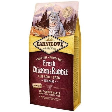 Суха храна за котки, Carnilove Fresh, Пилешко и заешко, 6 кг