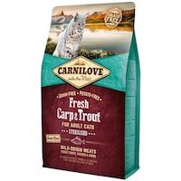 Суха храна за котки, Carnilove Fresh, Шаран и пъстърва, Sterilised, 6 кг
