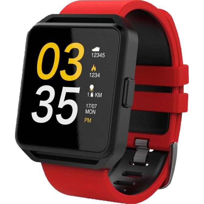 Fotografie Ceas smartwatch Maxcom FitGo FW15 Square, Silicon Band, Red