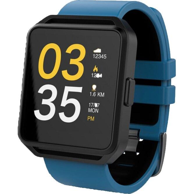 Fotografie Ceas smartwatch Maxcom FitGo FW15 Square, Silicon Band, Blue