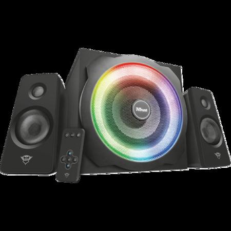 Boxe gaming Trust 2.1 GXT 629 Tytan, iluminare RGB, telecomanda wireless, Negru