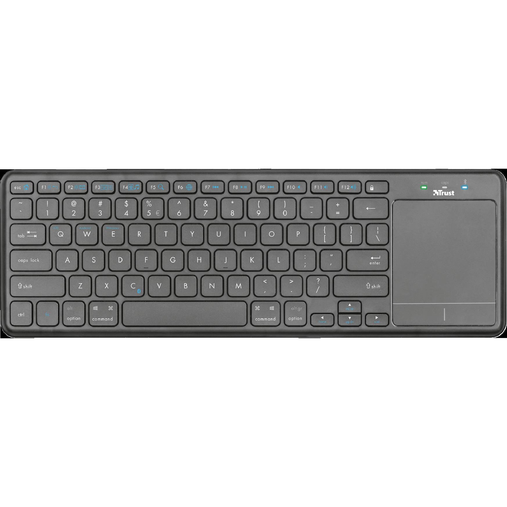 Fotografie Tastatura bluetooth Trust Mida XL touchpad, Negru