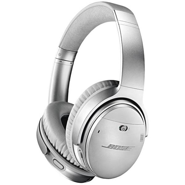 Fotografie Casti Audio Over the Ear Bose QC35 II, Wireless, Bluetooth, Noise cancelling, Microfon, Autonomie 20 ore, Argintiu