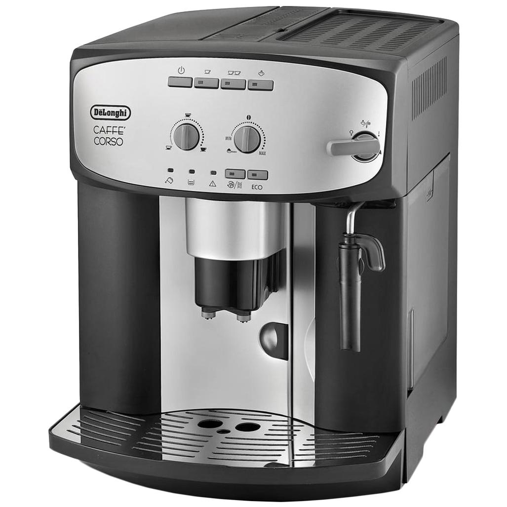 Fotografie Espressor automat De'Longhi Caffè Corso ESAM 2800.SB, 1450 W, 15 Bar, 1.8 L, dispozitiv spumare, Negru