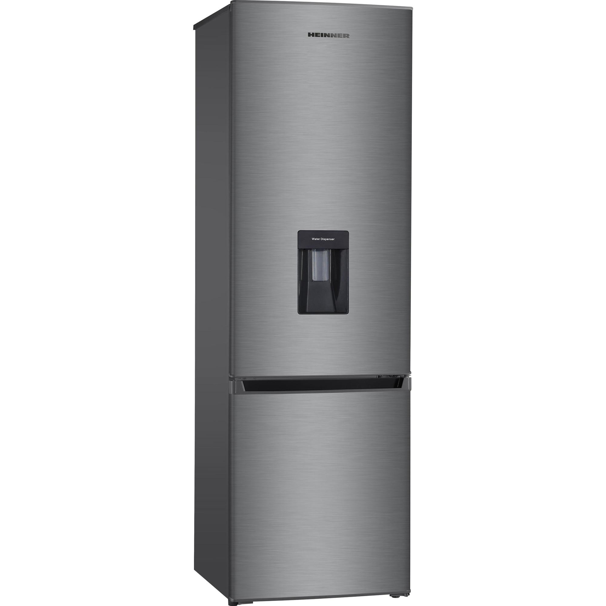 Fotografie Combina frigorifica Heinner HC-H273XWD+, 267 l, Clasa A+, Control mecanic, Dispenser apa, H 176 cm, Inox