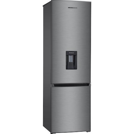 Combina frigorifica Heinner HC-H273XWD+, 267 l, Clasa A+, Control mecanic, Dispenser apa, H 176 cm, Inox