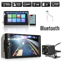 Мултимедия ZAPIN 7010B 2DIN,Bluetooth V2.0 Автомобилен аудио видео,MP5 плейър + камера бонус