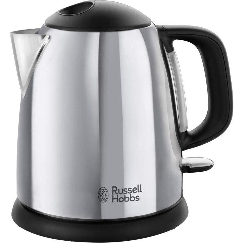 Fotografie Fierbator compact Russell Hobbs Victory 24990-70, 2200 W, 1 L, Fierbere rapida, Baza 360°, Inox