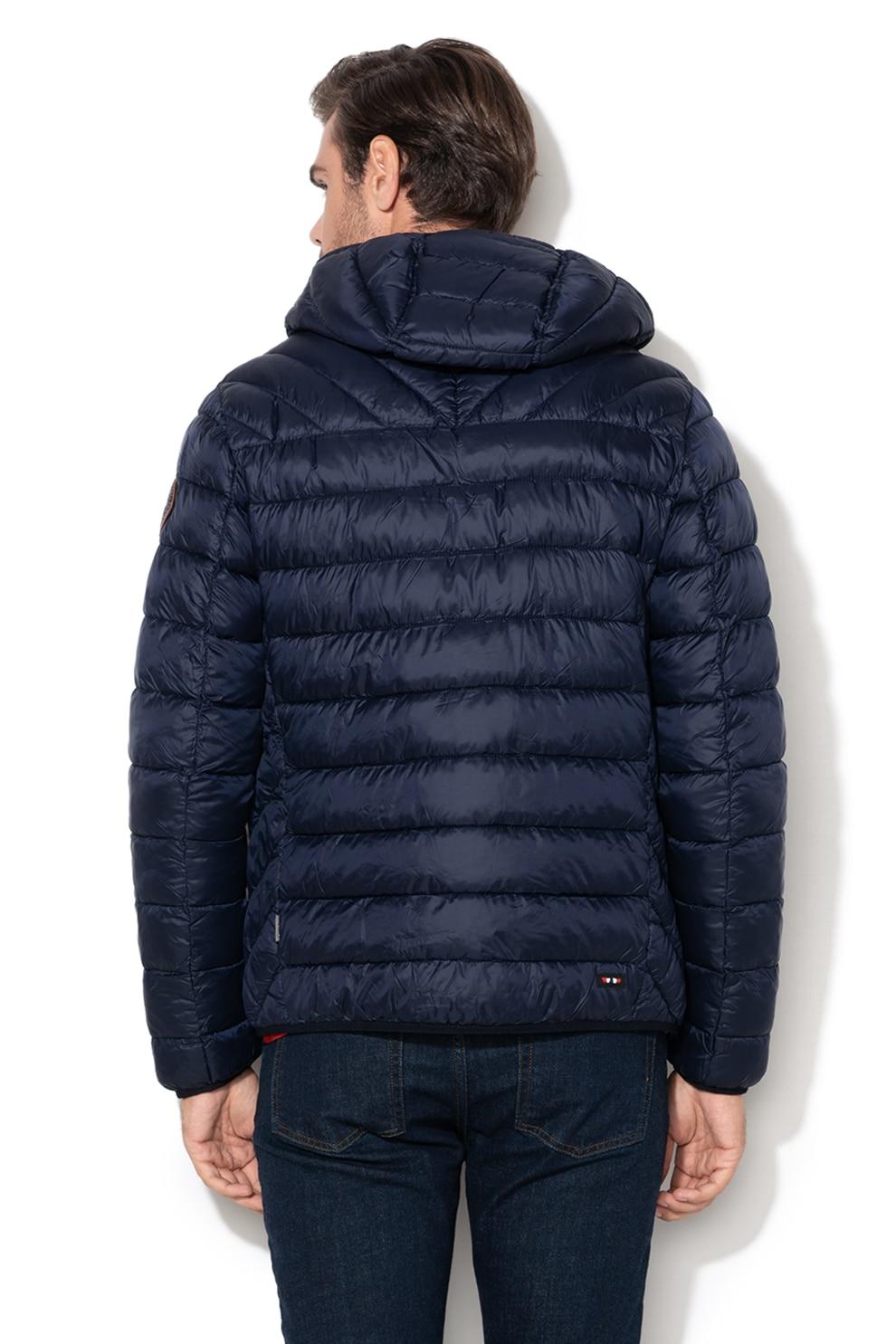 Napapijri, Aerons regular fit enyhén bélelt kabát, Sötétkék