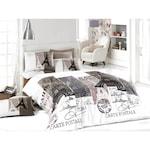 Спално бельо Decona Париж, 100% памук Ранфорс, 2 персона, 4 части, Бежов