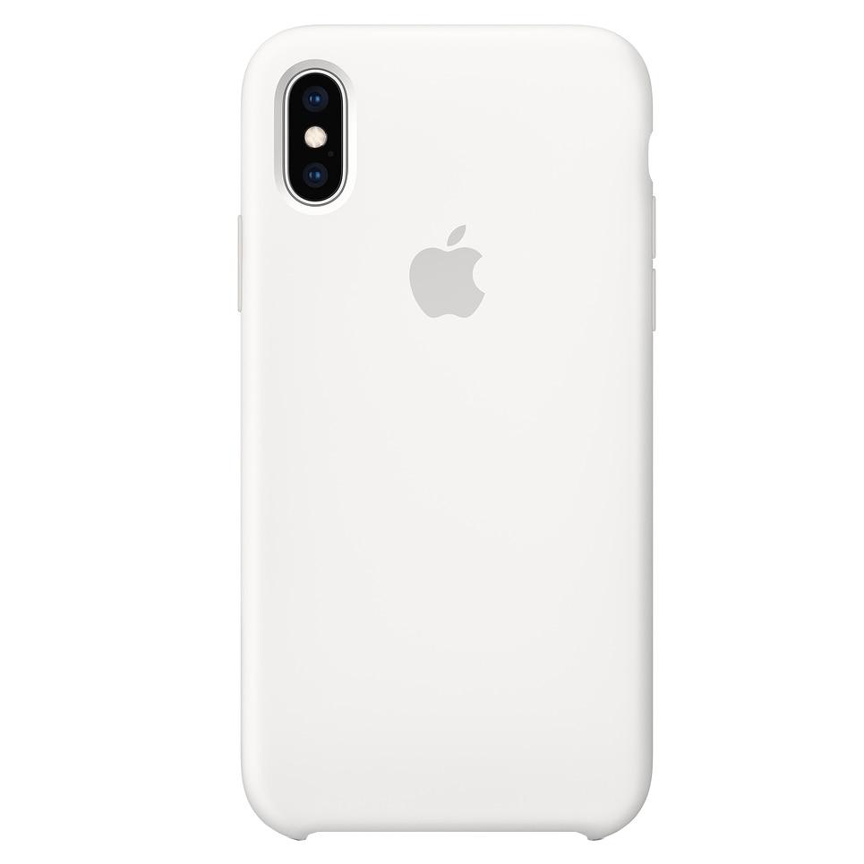 Fotografie Husa de protectie Apple pentru iPhone XS, Silicon, White