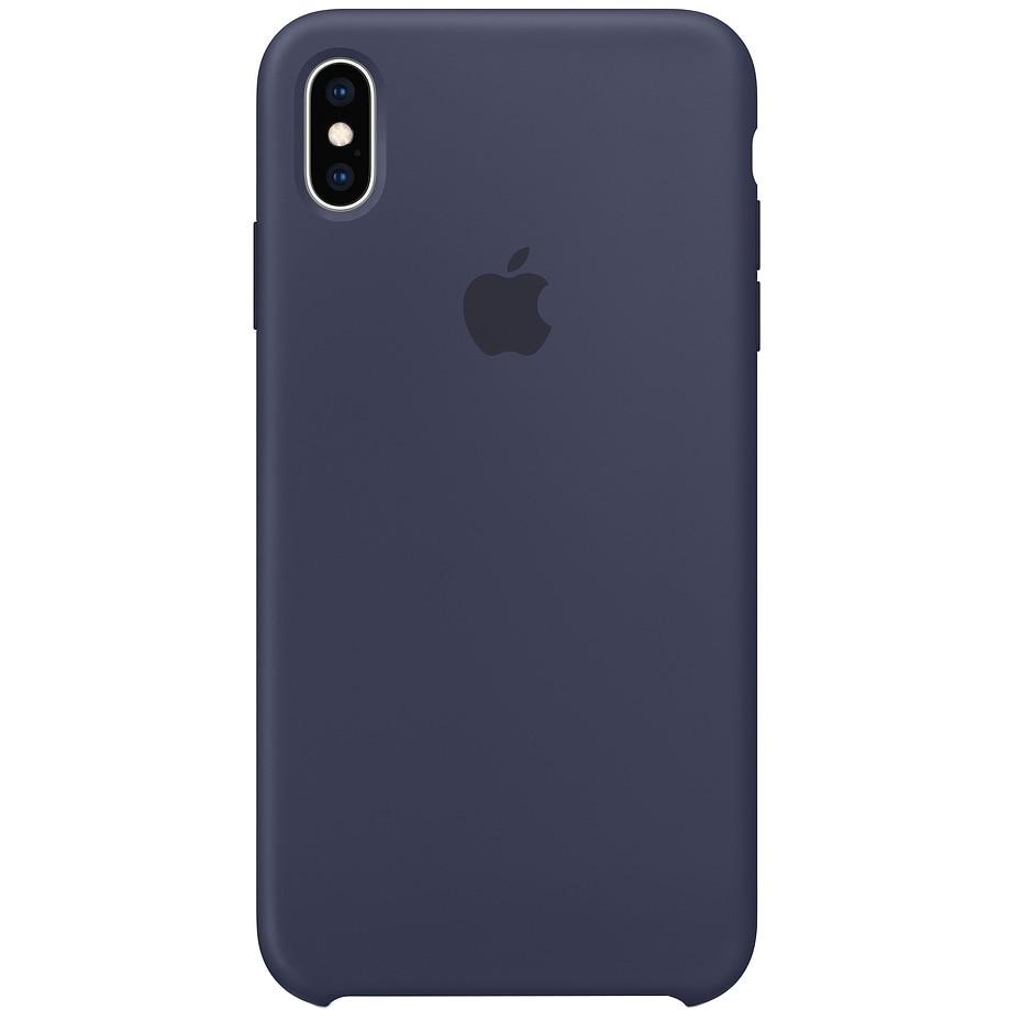 Fotografie Husa de protectie Apple pentru iPhone XS Max, Silicon, Midnight Blue