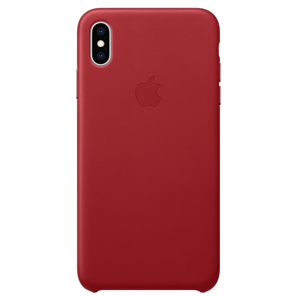 Fotografie Husa de protectie Apple pentru iPhone XS Max, Piele, Red