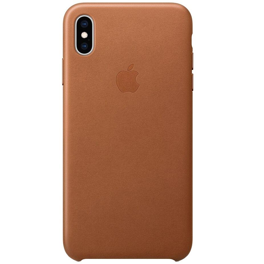 Fotografie Husa de protectie Apple pentru iPhone XS Max, Piele, Saddle Brown
