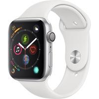 Apple, Смарт часовник Watch 4, GPS, Space Grey, Алуминиев корпус, 44 мм, Сребрист