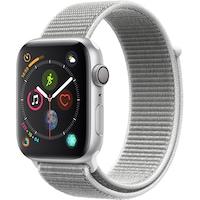 Часовник Smartwatch Apple Watch 4, GPS, Корпус Silver Aluminium 44 мм, Seashell Sport Loop