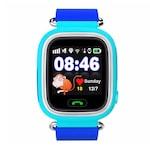 Ceas smartwatch GPS copii TechONE® GW100, functie telefon, touchscreen, Bluetooth, pozitionare GPS+AGPS+WiFi+Beidou, Buton SOS, monitorizare spion, Albastru