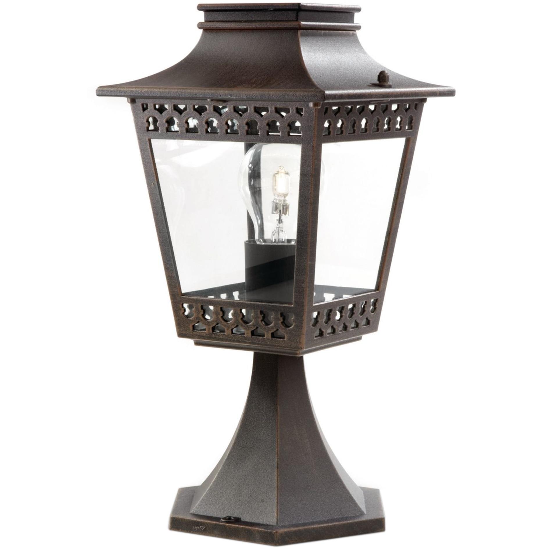 Fotografie Stalp iluminat exterior Philips myGarden Hedge, E27, 1x60W, IP44, 35 cm, Maro