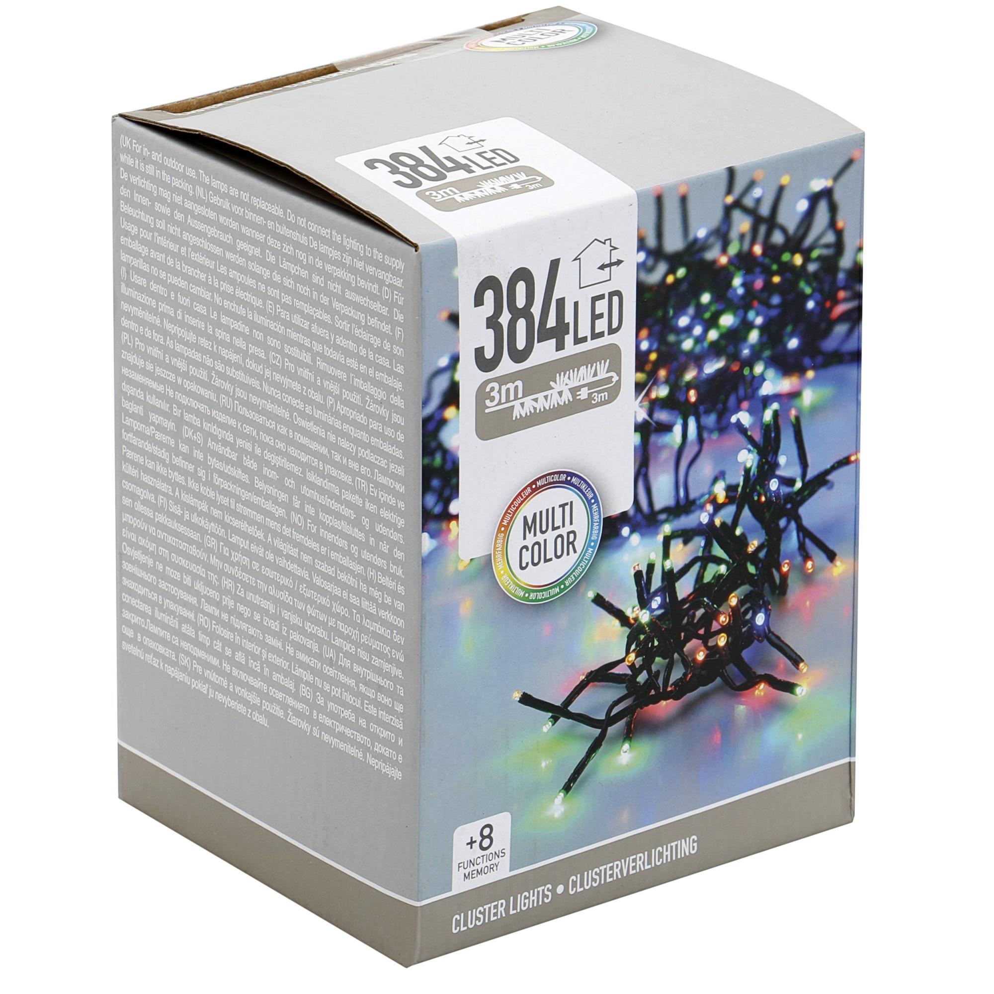 Fotografie Instalatie cluster multiLED eNoelle, 384 LED-uri multicolore, 3 mm, 3 m